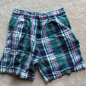 Vintage Eddie Bauer plaid shorts